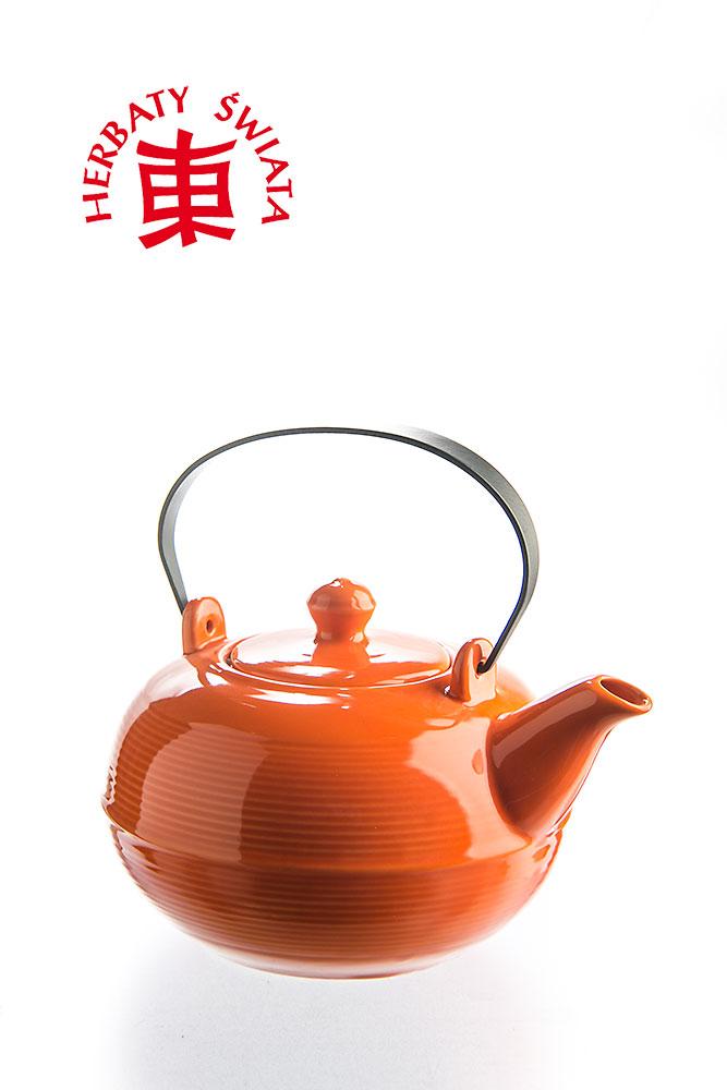 Modne ubrania Porcelanowy dzbanek z sitkiem, do zaparzania herbaty, ziół. NJ65